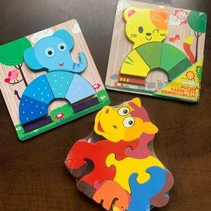 FREE ADD ON / Bundle of 3 / Toddler Puzzles